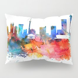 Johannesburg Colorful Drops Skyline Pillow Sham