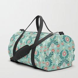 Floral Folk Pattern Duffle Bag