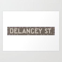 Delancey Street Art Print