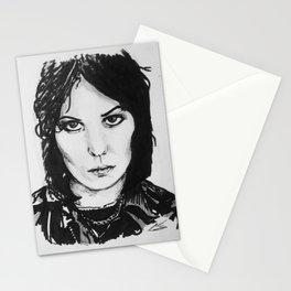 Rock Musician Joan Jett Portrait Stationery Cards
