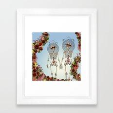 The Summer of Love anatomical skeleton collage art by bedelgeuse Framed Art Print