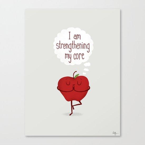 Apple Core Workout Canvas Print