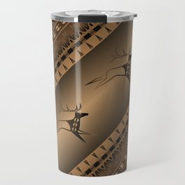 Elk Spirit (Brown) Travel Mug