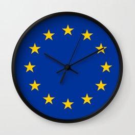 Flag of Europe 4 Wall Clock