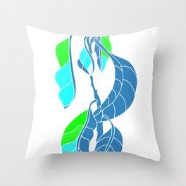 Avocado in Light Blue Throw Pillow