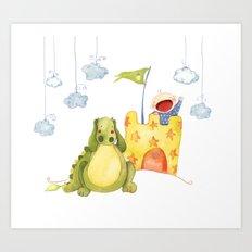 Baby castle Art Print