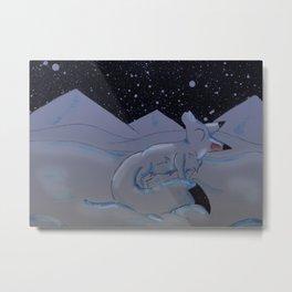 Arctic Snowfall Metal Print