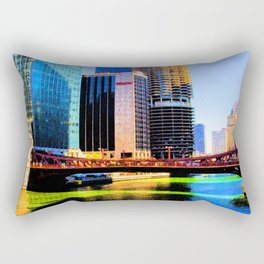 Clark St. Bridge, Chicago (Pop) Rectangular Pillow