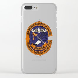 USS GEORGE WASHINGTON CARVER (SSBN-656) PATCH Clear iPhone Case