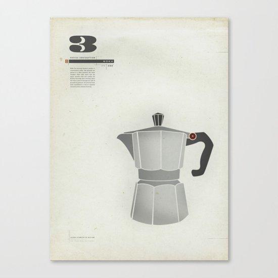 Coffee Contraption #3: Moka Canvas Print