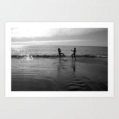Beach Kung Fu Art Print