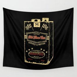 Old Time Car Oil Can  Wall Tapestry