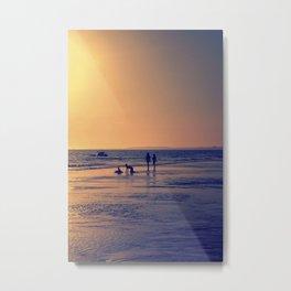 Walking by the sea Metal Print