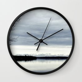 Take Me to a Lake with a View Wall Clock