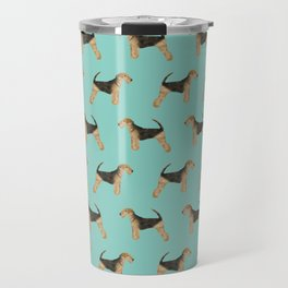 Airedale Terrier dog pattern cute gifts for dog lover pet friendly airedale terriers Travel Mug