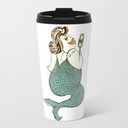 sel-fish mermaid Travel Mug