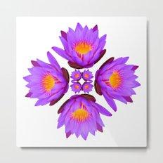 Purple Lily Flower - On White Metal Print
