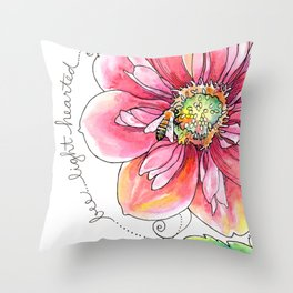 Bee Light-Hearted Throw Pillow