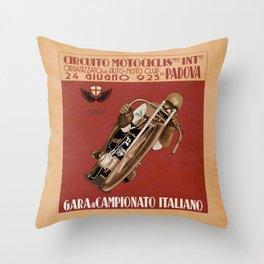 Italian Motorcycle Championship Race Throw Pillow