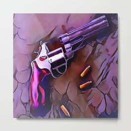 The Wheel Gun Metal Print