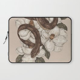 Snake and Magnolias Laptop Sleeve
