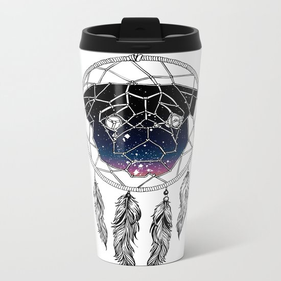 Dreamcather Pug Metal Travel Mug