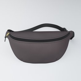 Solid Dark Charcoal Grey Color Fanny Pack