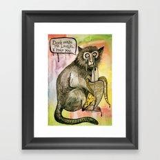 Sad Monkey Framed Art Print