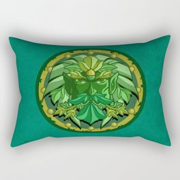 Green Man Rectangular Pillow