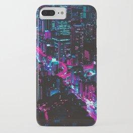 Cyberpunk Vaporwave City iPhone Case