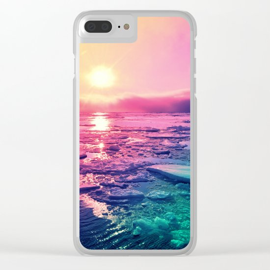Pastel Sunset Waters Clear iPhone Case