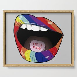 Candy Lips Serving Tray