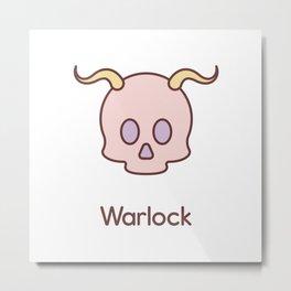 Cute Dungeons and Dragons Warlock class Metal Print