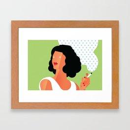 Elle Fume Framed Art Print