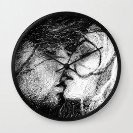 Abstract Ink Kiss Wall Clock