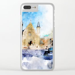 sketch the Hague 2 Clear iPhone Case