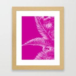 Pink Palm Trees in Minimalism Framed Art Print