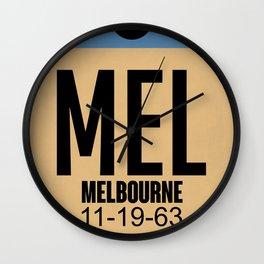 MEL Melbourne Luggage Tag 1 Wall Clock