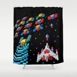 Inside Galaga Shower Curtain