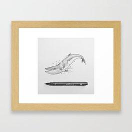 Minke Whale Soul Framed Art Print