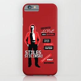 Stiles Stilinski Quotes Teen Wolf iPhone Case
