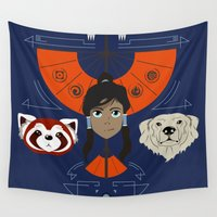 korra Wall Tapestries featuring Spirited Avatar by Ashley Hay