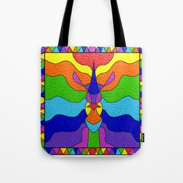 Stained Glass Unicorn Tote Bag
