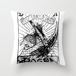Believe the Dogma - Pyramid Throw Pillow