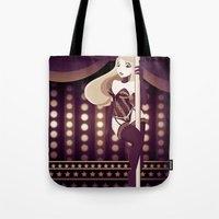 burlesque Tote Bags featuring Burlesque by ihasb33r