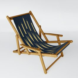Navy Cattail Sling Chair