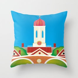 Cambridge, Massachusetts - Skyline Illustration by Loose Petals Throw Pillow
