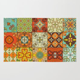 Vintage mosaic talavera ornament Rug
