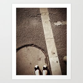 walk a mile in her shoes. Art Print