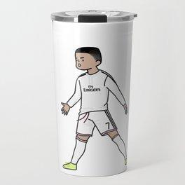 ronaldo christiano cartoon Travel Mug